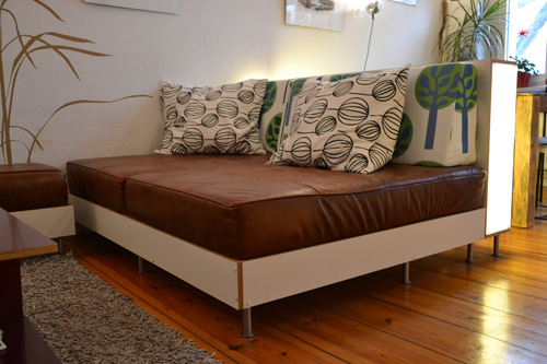 Sofa selbst gebaut