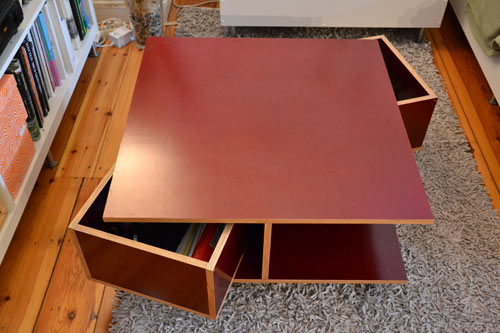 Wohnzimmertisch Selbstgebaut Bilder Tisch Mbelplatte Selber Bauen